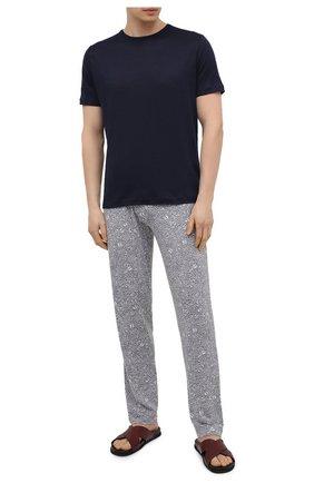 Мужские домашние брюки ZIMMERLI серого цвета, арт. 5185-95621 | Фото 2 (Материал внешний: Синтетический материал; Длина (брюки, джинсы): Стандартные; Кросс-КТ: домашняя одежда; Мужское Кросс-КТ: Брюки-белье)