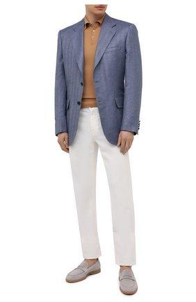 Мужское шерстяное поло CRUCIANI бежевого цвета, арт. CU26.205 | Фото 2