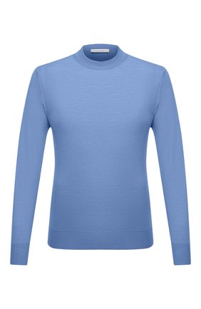 Мужской шерстяная водолазка CRUCIANI голубого цвета, арт. CU26.206 | Фото 1