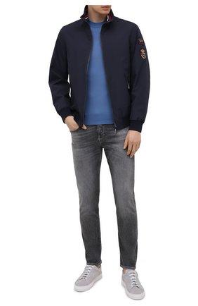 Мужской шерстяная водолазка CRUCIANI голубого цвета, арт. CU26.206 | Фото 2