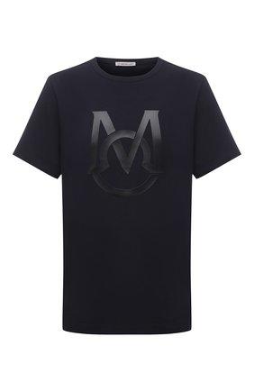 Мужская хлопковая футболка MONCLER темно-синего цвета, арт. G1-091-8C7E1-20-8390T | Фото 1