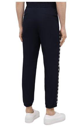 Мужские хлопковые джоггеры MONCLER темно-синего цвета, арт. G1-091-2A765-00-57448   Фото 4 (Длина (брюки, джинсы): Стандартные; Материал внешний: Хлопок; Стили: Спорт-шик; Силуэт М (брюки): Джоггеры)
