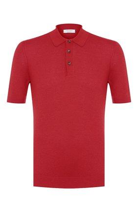 Мужское шелковое поло GRAN SASSO красного цвета, арт. 43110/23503 | Фото 1