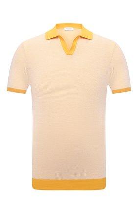 Мужское хлопковое поло GRAN SASSO желтого цвета, арт. 57155/26901 | Фото 1