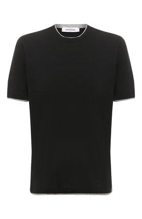 Мужская хлопковая футболка GRAN SASSO черного цвета, арт. 60123/73710 | Фото 1