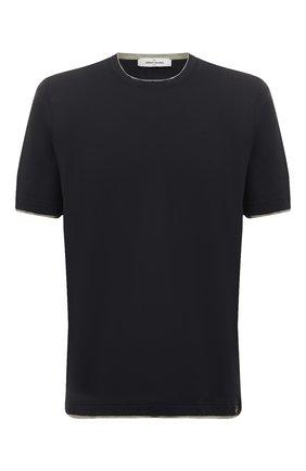 Мужская хлопковая футболка GRAN SASSO темно-синего цвета, арт. 60123/73710 | Фото 1