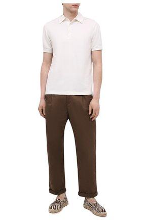 Мужские текстильные эспадрильи RALPH LAUREN коричневого цвета, арт. 815835921 | Фото 2