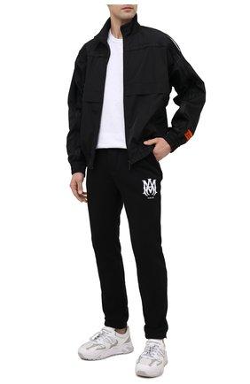 Мужские хлопковые джоггеры AMIRI черного цвета, арт. MJSP006-001   Фото 2