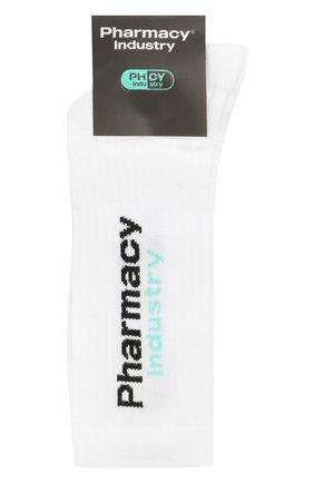 Мужские хлопковые носки PHARMACY INDUSTRY белого цвета, арт. PHMA024 | Фото 1