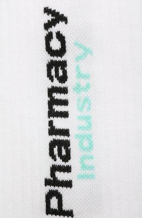 Мужские хлопковые носки PHARMACY INDUSTRY белого цвета, арт. PHMA024 | Фото 2