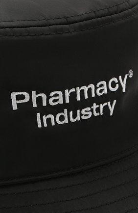 Мужская панама PHARMACY INDUSTRY черного цвета, арт. PHMA016   Фото 3 (Материал: Текстиль, Синтетический материал, Хлопок)