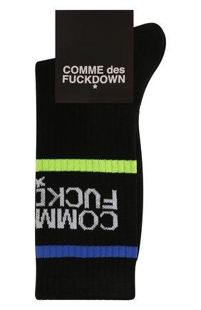Мужские хлопковые носки COMME DES FUCKDOWN черного цвета, арт. CDFA550   Фото 1