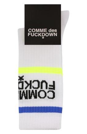 Мужские хлопковые носки COMME DES FUCKDOWN белого цвета, арт. CDFA550 | Фото 1