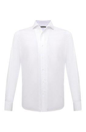 Мужская хлопковая сорочка CORNELIANI белого цвета, арт. 86P156-1111269/00 | Фото 1