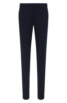 Мужские брюки из шерсти и хлопка CORNELIANI темно-синего цвета, арт. 874B08-1114570/02 | Фото 1