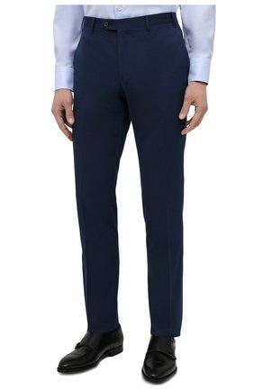 Мужской костюм из хлопка и кашемира CORNELIANI темно-синего цвета, арт. 87NY76-1114105/92 | Фото 4 (Рукава: Длинные; Костюмы М: Однобортный; Материал внешний: Хлопок; Стили: Классический; Материал подклада: Вискоза)