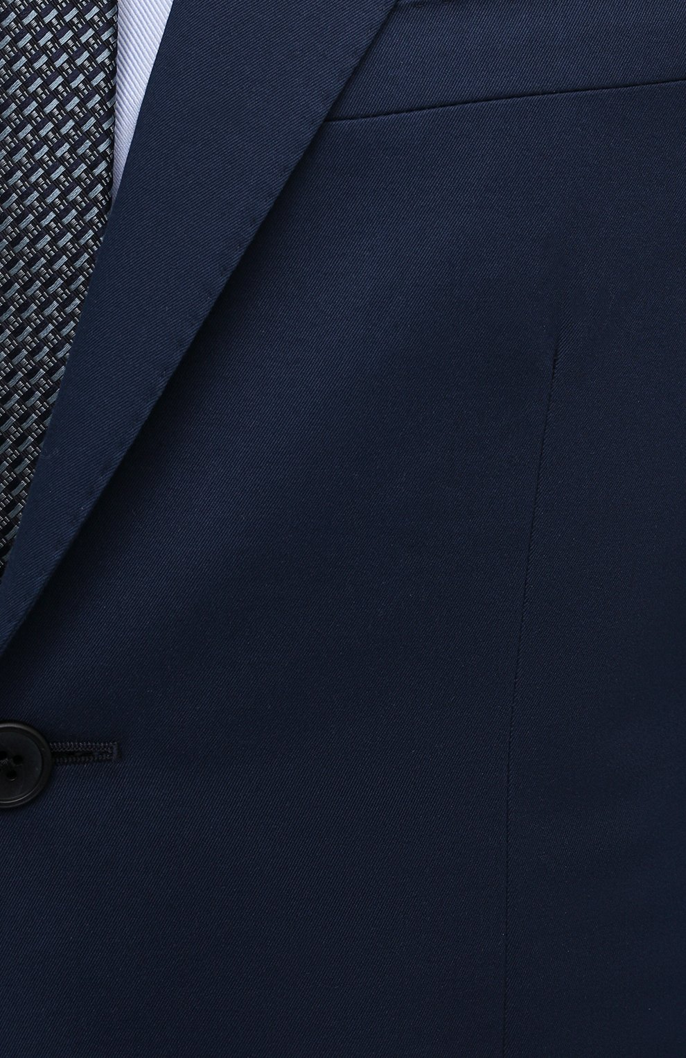 Мужской костюм из хлопка и кашемира CORNELIANI темно-синего цвета, арт. 87NY76-1114105/92 | Фото 6 (Рукава: Длинные; Костюмы М: Однобортный; Материал внешний: Хлопок; Стили: Классический; Материал подклада: Вискоза)