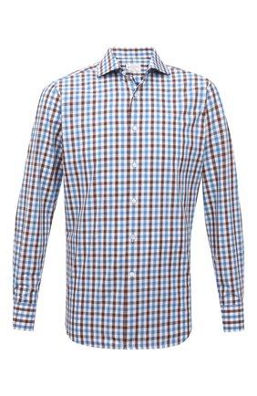 Мужская хлопковая рубашка BAGUTTA голубого цвета, арт. 342_EBL/11181 | Фото 1