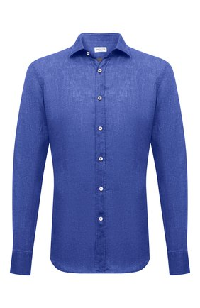 Мужская льняная рубашка BAGUTTA синего цвета, арт. BERLIN0_EBLW/11185 | Фото 1