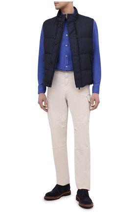 Мужская льняная рубашка BAGUTTA синего цвета, арт. BERLIN0_EBLW/11185 | Фото 2