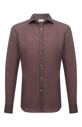 Мужская льняная рубашка BAGUTTA светло-коричневого цвета, арт. BERLIN0_EBLW/11185 | Фото 1