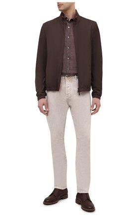 Мужская льняная рубашка BAGUTTA светло-коричневого цвета, арт. BERLIN0_EBLW/11185 | Фото 2
