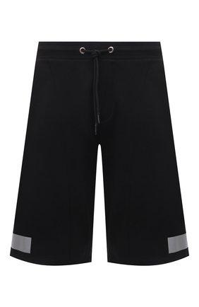 Мужские хлопковые шорты ICEBERG черного цвета, арт. 21E I1P0/D011/6300 | Фото 1