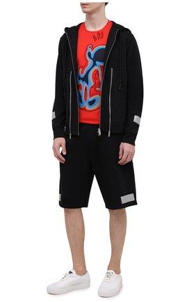 Мужские хлопковые шорты ICEBERG черного цвета, арт. 21E I1P0/D011/6300 | Фото 2