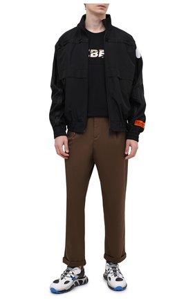 Мужская хлопковая футболка ICEBERG черного цвета, арт. 21E I1P0/F012/6301 | Фото 2