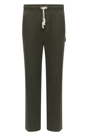 Мужские хлопковые брюки PALM ANGELS хаки цвета, арт. PMCG002S21FAB0035656 | Фото 1