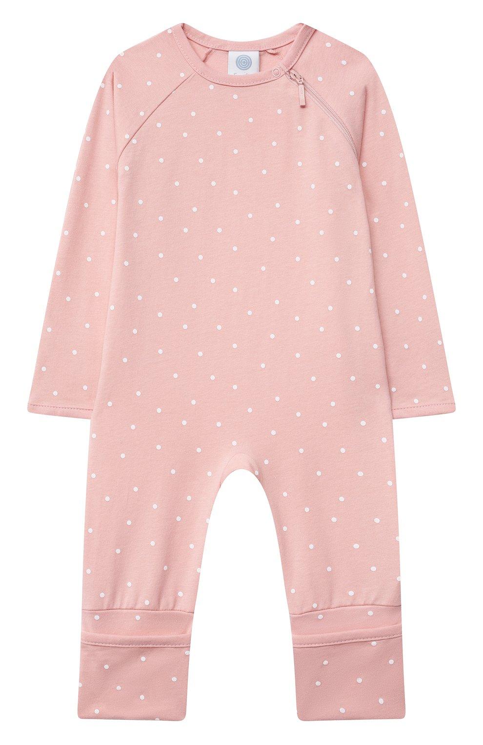 Детский хлопковый комбинезон SANETTA светло-розового цвета, арт. 221594. | Фото 1