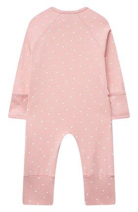 Детский хлопковый комбинезон SANETTA светло-розового цвета, арт. 221594. | Фото 2