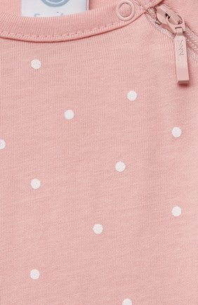 Детский хлопковый комбинезон SANETTA светло-розового цвета, арт. 221594. | Фото 3