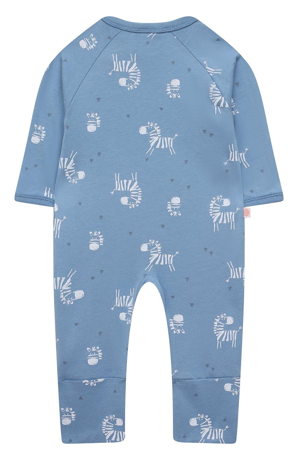 Детский хлопковый комбинезон SANETTA синего цвета, арт. 221609. | Фото 2