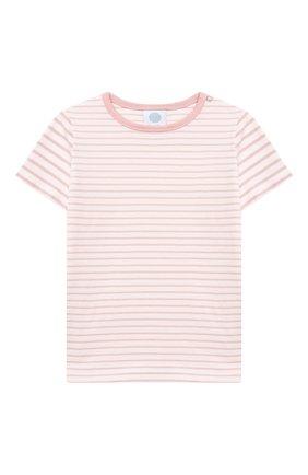 Детская хлопковая пижама SANETTA светло-розового цвета, арт. 221596. | Фото 2