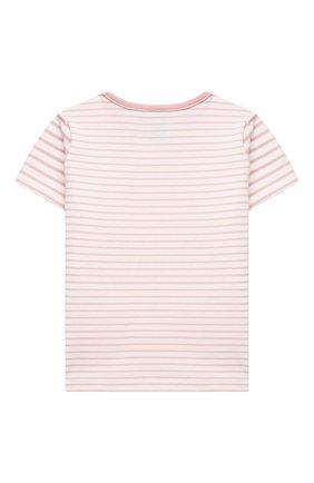 Детская хлопковая пижама SANETTA светло-розового цвета, арт. 221596. | Фото 3