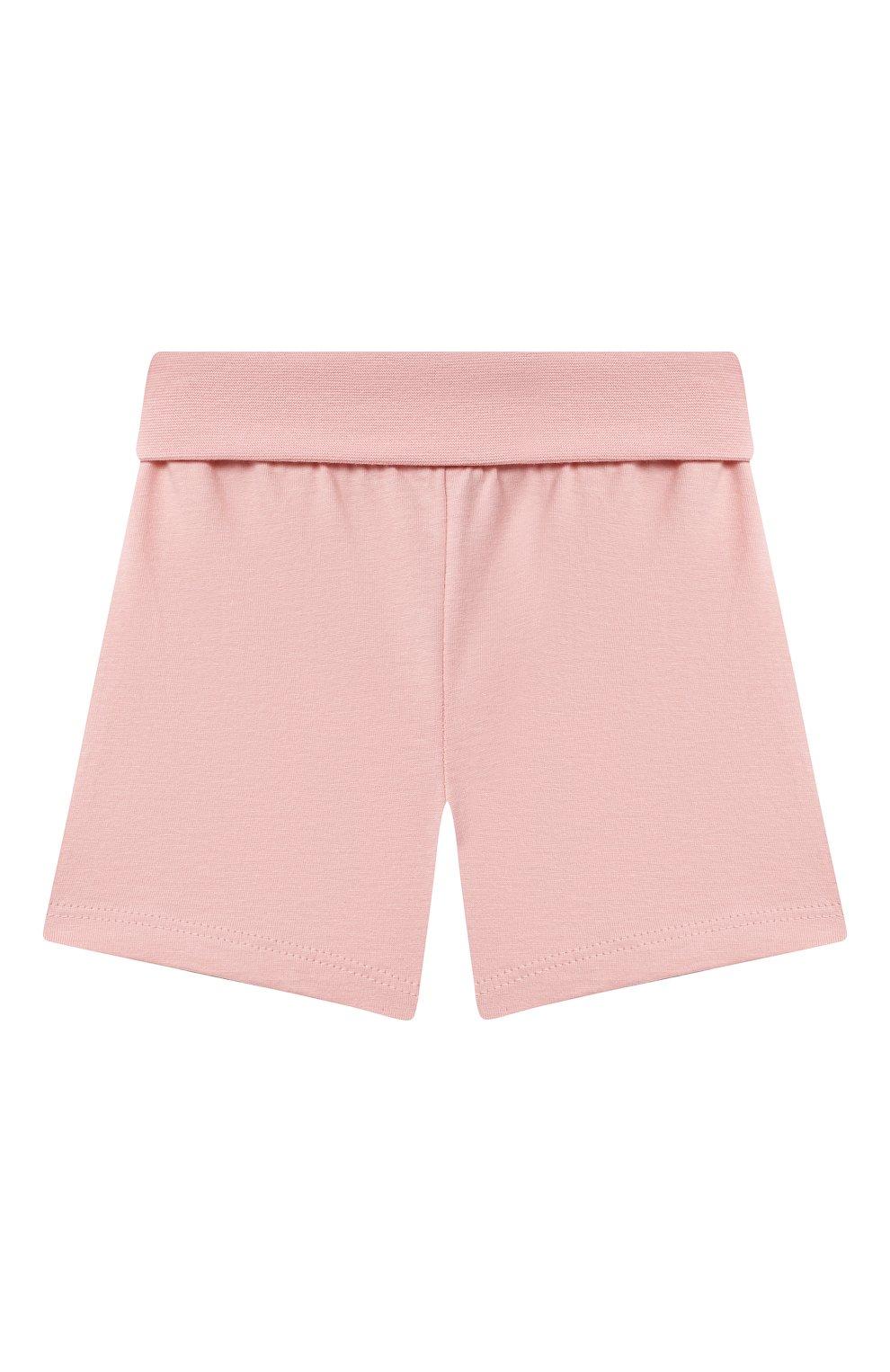 Детская хлопковая пижама SANETTA светло-розового цвета, арт. 221596. | Фото 4