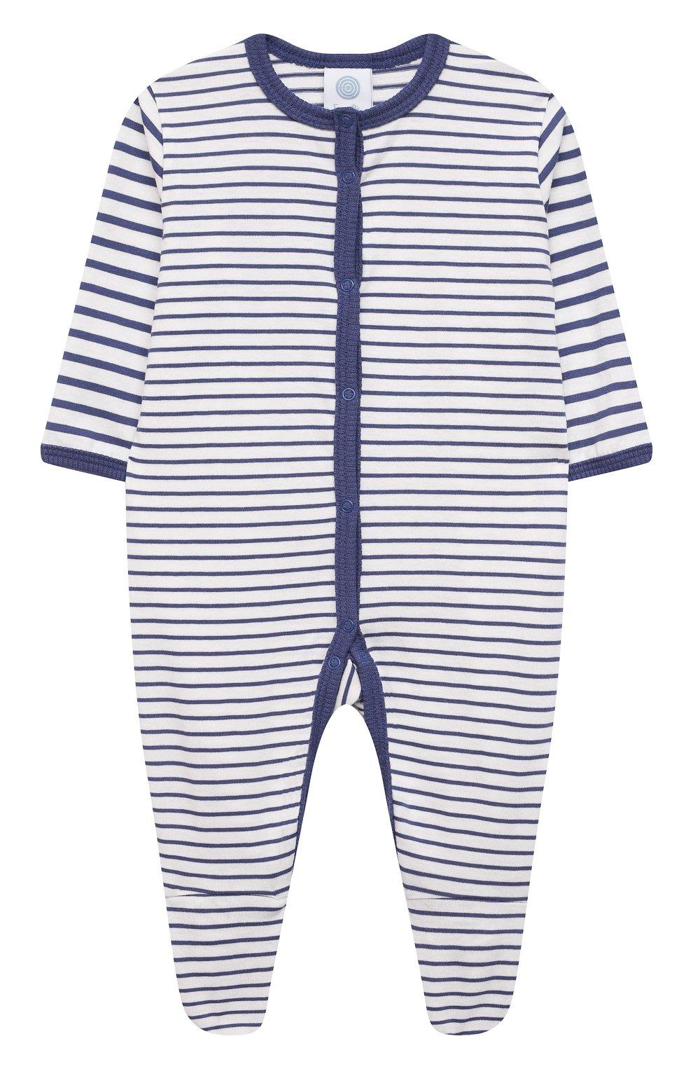 Детский хлопковый комбинезон SANETTA синего цвета, арт. 221593. | Фото 1