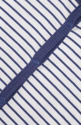 Детский хлопковый комбинезон SANETTA синего цвета, арт. 221593. | Фото 3