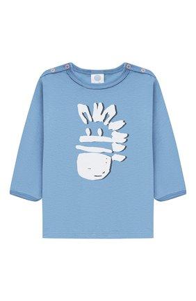 Детский хлопковая пижама SANETTA синего цвета, арт. 221608. | Фото 2