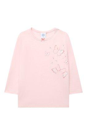 Детская хлопковая пижама SANETTA светло-розового цвета, арт. 221615. | Фото 2
