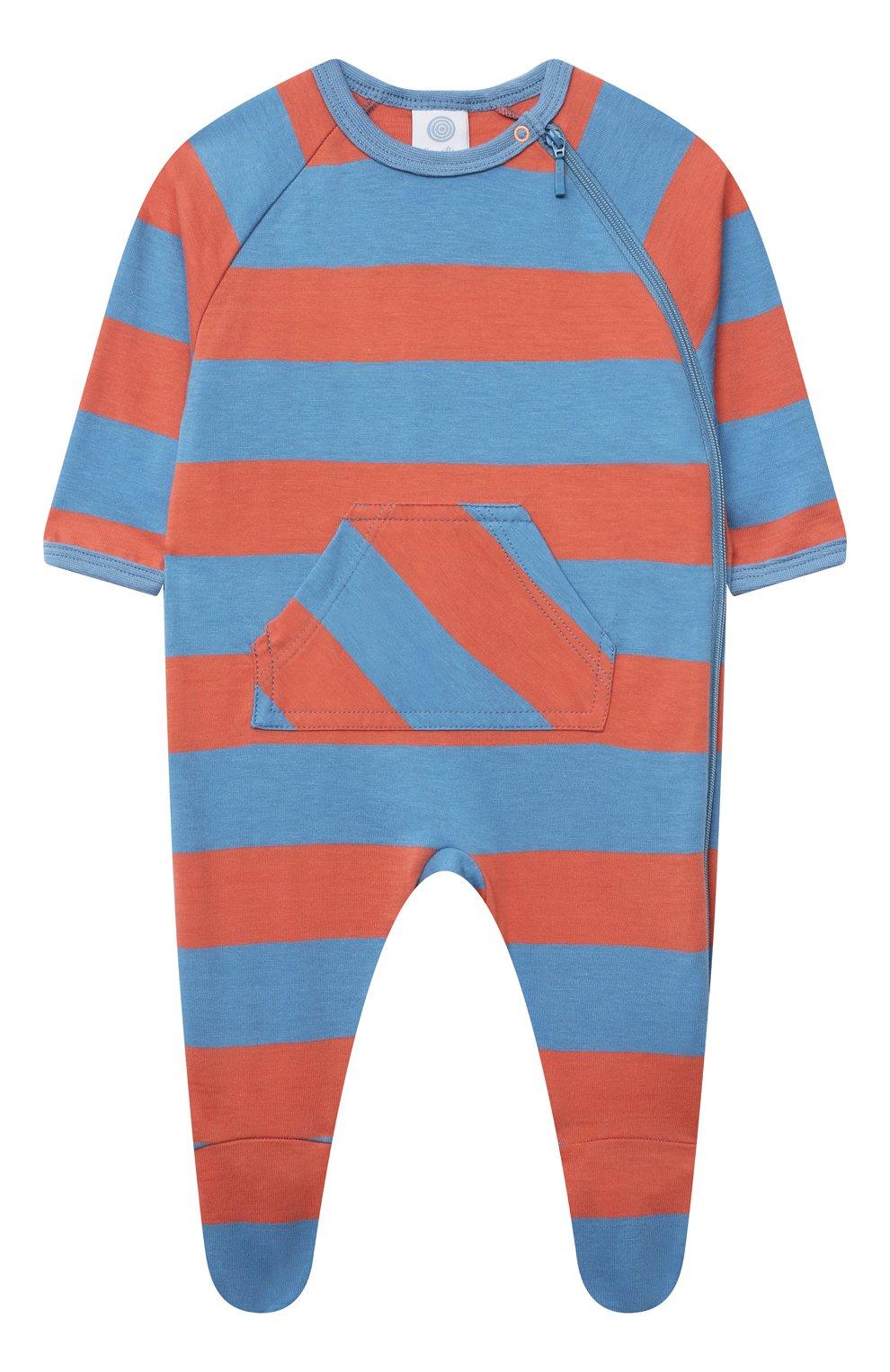 Детский хлопковый комбинезон SANETTA разноцветного цвета, арт. 221610.   Фото 1