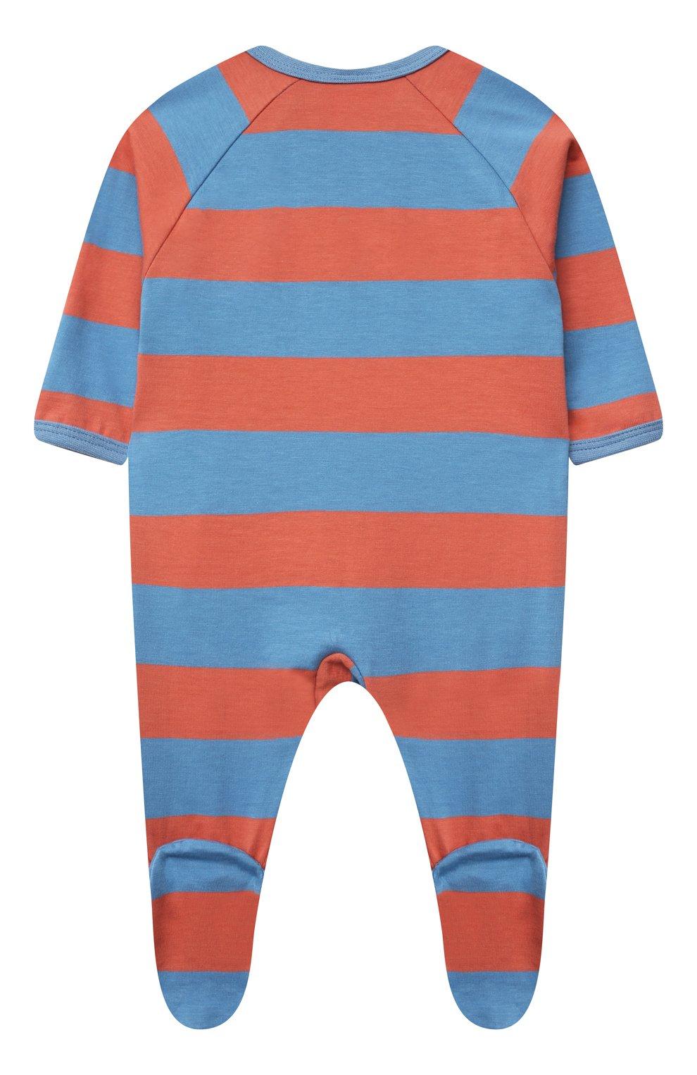 Детский хлопковый комбинезон SANETTA разноцветного цвета, арт. 221610.   Фото 2