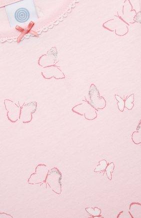 Детская хлопковая пижама SANETTA светло-розового цвета, арт. 221613. | Фото 6