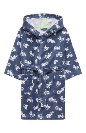 Детский хлопковый халат SANETTA синего цвета, арт. 232586. | Фото 1