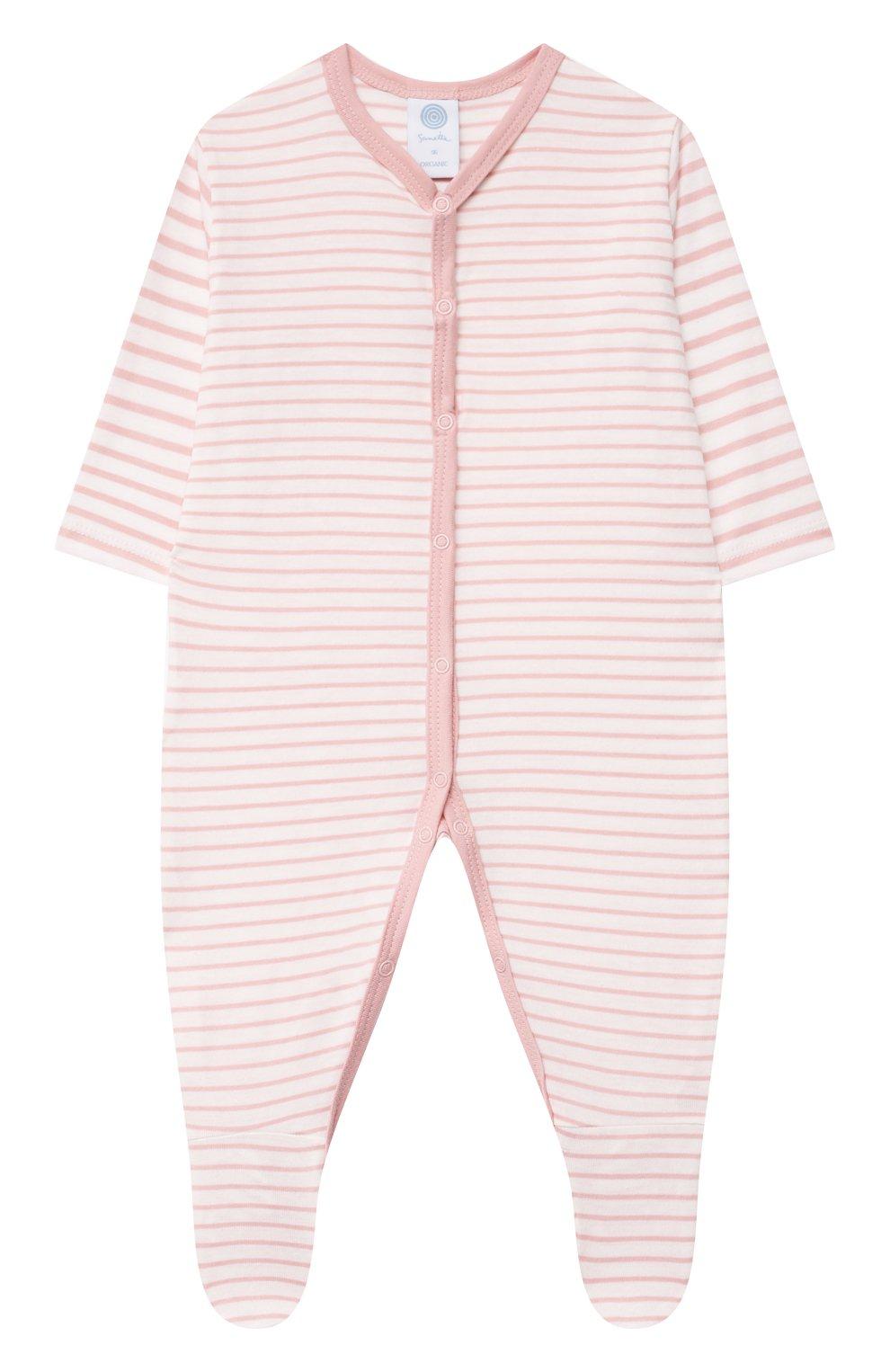 Детский хлопковый комбинезон SANETTA светло-розового цвета, арт. 221595. | Фото 1