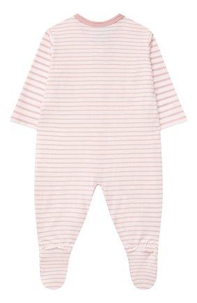 Детский хлопковый комбинезон SANETTA светло-розового цвета, арт. 221595. | Фото 2