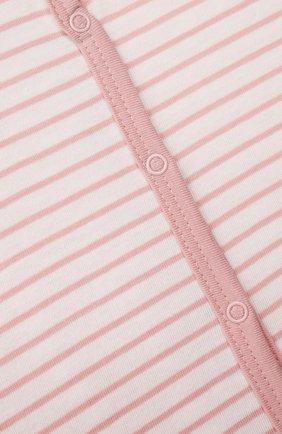 Детский хлопковый комбинезон SANETTA светло-розового цвета, арт. 221595. | Фото 3