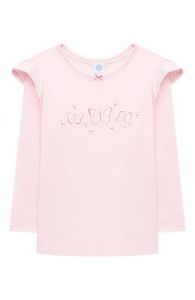 Детский хлопковая пижама SANETTA светло-розового цвета, арт. 232608. | Фото 2