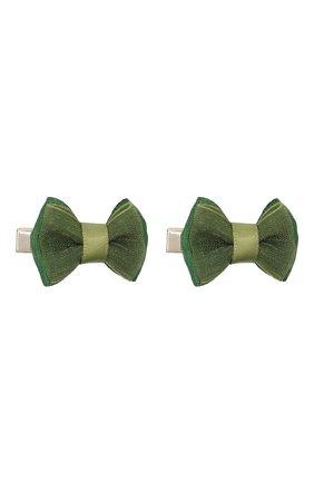 Детская комплект из двух заколок JUNEFEE зеленого цвета, арт. 6781   Фото 1